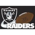 "Oakland Raiders NFL 20"" x 30"" Tufted Rug"