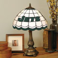 New York Jets NFL Stained Glass Tiffany Table Lamp