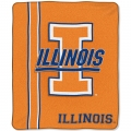 "Illinois Fighting Illini College ""Jersey"" 50"" x 60"" Raschel Throw"