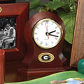 Georgia UGA Bulldogs NCAA College Brown Desk Clock