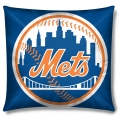 "New York Mets MLB 16"" Embroidered Plush Pillow with Applique"