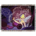 "Disney Tinkerbell Clumsy Tink 48"" x 60"" Metallic Tapestry Throw"