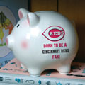 Cincinnati Reds MLB Ceramic Piggy Bank
