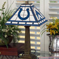 Indianapolis Colts NFL Stained Glass Mission Style Table Lamp