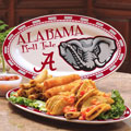 "Alabama Crimson Tide NCAA College 12"" Ceramic Oval Platter"