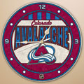 "Colorado Avalanche NHL 12"" Round Art Glass Wall Clock"
