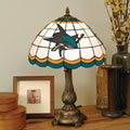 San Jose Sharks NHL Stained Glass Tiffany Table Lamp