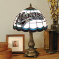Florida Marlins MLB Stained Glass Tiffany Table Lamp