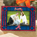 "Atlanta Braves MLB 6.5"" x 9"" Horizontal Art-Glass Frame"