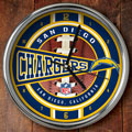 "San Diego Chargers NFL 12"" Chrome Wall Clock"