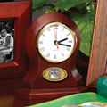 New York Rangers NHL Brown Desk Clock