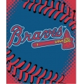 "Atlanta Braves MLB ""Tie Dye"" 60"" x 80"" Super Plush Throw"