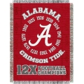 "Alabama Crimson Tide NCAA College ""Commemorative"" 48""x 60"" Tapestry Throw"