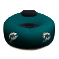 Miami Dolphins NFL Vinyl Inflatable Chair w/ faux suede cushions
