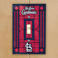 St. Louis Cardinals MLB Art Glass Single Light Switch Plate Cover