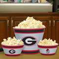 Georgia UGA Bulldogs NCAA College Melamine 3 Bowl Serving Set