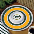 "Green Bay Packers NFL 14"" Round Melamine Chip and Dip Bowl"