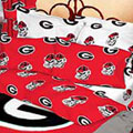 Georgia Bulldogs 100% Cotton Sateen Standard Pillow Sham - Red