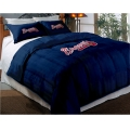 "Atlanta Braves MLB Twin Chenille Embroidered Comforter Set with 2 Shams 64"" x 86"""
