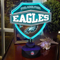 Philadelphia Eagles NFL Neon Shield Table Lamp
