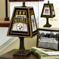 Pittsburgh Steelers NFL Art Glass Table Lamp