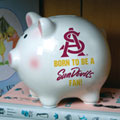 Arizona State Sun Devils NCAA College Ceramic Piggy Bank