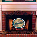 San Jose Sharks NHL Stained Glass Fireplace Screen