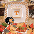 "Tennessee Vols NCAA College 14"" Gameday Ceramic Chip and Dip Tray"