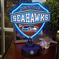 Seattle Seahawks NFL Neon Shield Table Lamp
