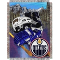 "Edmonton Oilers NHL Style ""Home Ice Advantage"" 48"" x 60"" Tapestry Throw"