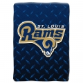 "St. Louis Rams NFL ""Diamond Plate"" 60' x 80"" Raschel Throw"