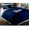 "New England Patriots NFL Twin Chenille Embroidered Comforter Set with 2 Shams 64"" x 86"""
