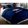 "Denver Broncos NFL Twin Chenille Embroidered Comforter Set with 2 Shams 64"" x 86"""