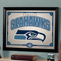Seattle Seahawks NFL Framed Glass Mirror