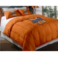 "Illinois Fighting Illini College Twin Chenille Embroidered Comforter Set with 2 Shams 64"" x 86"""