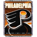 "Philadelphia Flyers NHL 48"" x 60"" Triple Woven Jacquard Throw"