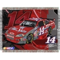 "Tony Stewart #14 Old Spice NASCAR ""Flash"" 48"" x 60"" Metallic Tapestry Throw"