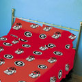 Georgia Bulldogs 100% Cotton Sateen Standard Pillowcase - Red