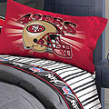 San Francisco 49ers Twin Size Pinstripe Sheet Set