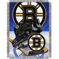 "Boston Bruins NHL Style ""Home Ice Advantage"" 48"" x 60"" Tapestry Throw"