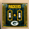 Green Bay Packers NFL Art Glass Double Light Switch Plate Cover