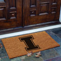Illinois Illini NCAA College Rectangular Outdoor Flocked Door Mat