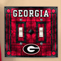 Georgia UGA Bulldogs NCAA College Art Glass Double Light Switch Plate Cover