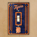 Detroit Tigers MLB Art Glass Single Light Switch Plate Cover