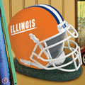Illinois Illini NCAA College Helmet Bank