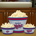 Minnesota Twins MLB Melamine 3 Bowl Serving Set