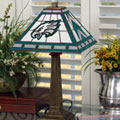 Philadelphia Eagles NFL Stained Glass Mission Style Table Lamp