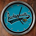 "Jacksonville Jaguars NFL 12"" Chrome Wall Clock"