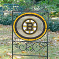 Boston Bruins NHL Stained Glass Outdoor Yard Sign