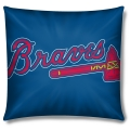 "Atlanta Braves MLB 16"" Embroidered Plush Pillow with Applique"